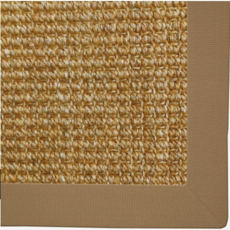 Picture of Sisal - Saffron with Tan binding 1.6m x 1.3m
